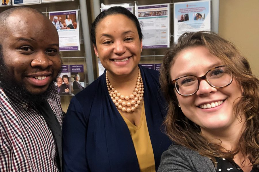 Andrea Gilmore-Bykovskyi and lab members at the Alzheimer's Association chapter in Detroit